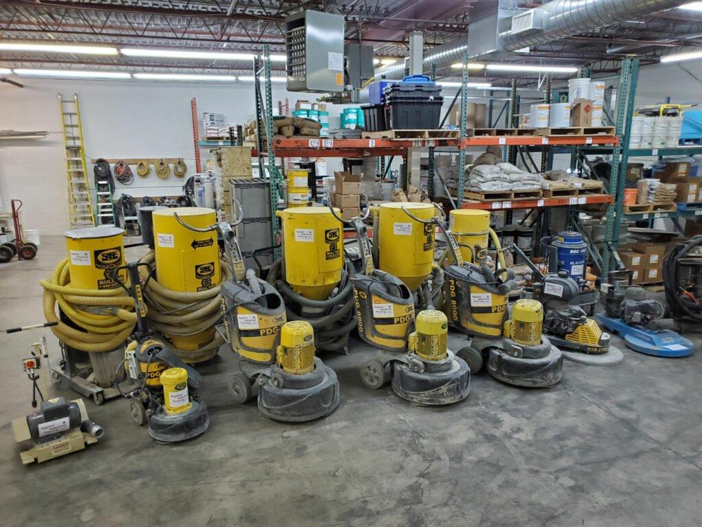 diamond grinding equipment for concrete polishing and floor adhesive removals toronto